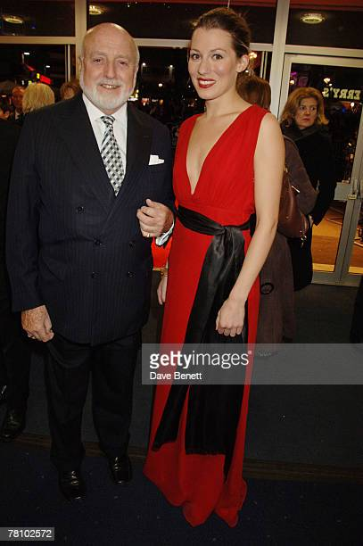 Actress Amy Carson and businessman Sir Peter Moores arrive at the UK premiere of 'The Magic Flute' at Odeon West End November 26 2007 in London...