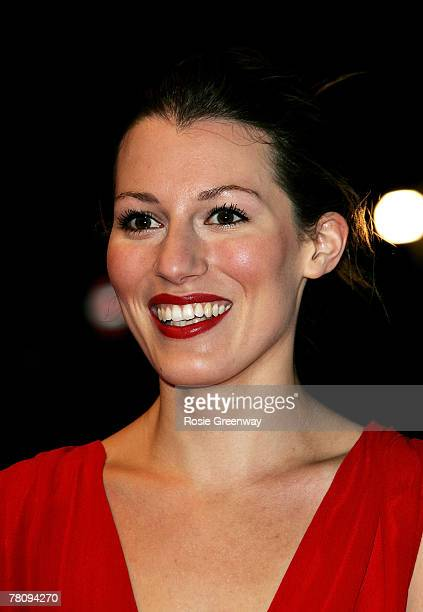 Actress Amy Carson arrives at the UK premiere of 'The Magic Flute' at Odeon West End on November 26 2007 in London England