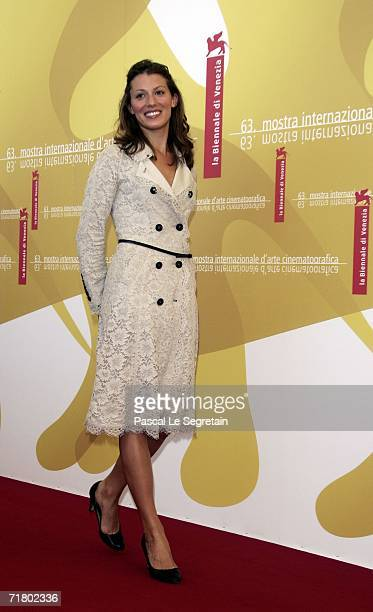 Actress Amy Carson attends a photocall to promote the film 'The Magic Flute' during the ninth day of the 63rd Venice Film Festival on September 7...