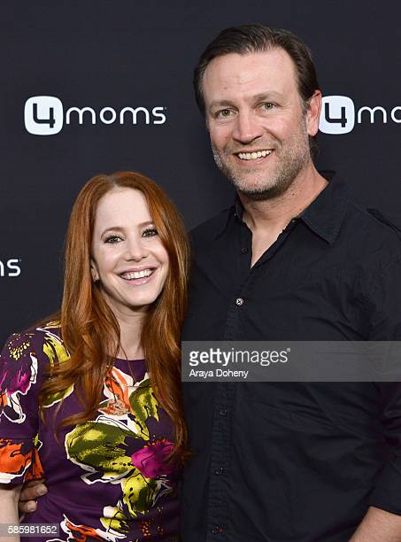 Actress Amy Davidson and Kacy Lockwood attend the 4moms Car Seat launch event at Petersen Automotive Museum on August 4 2016 in Los Angeles California
