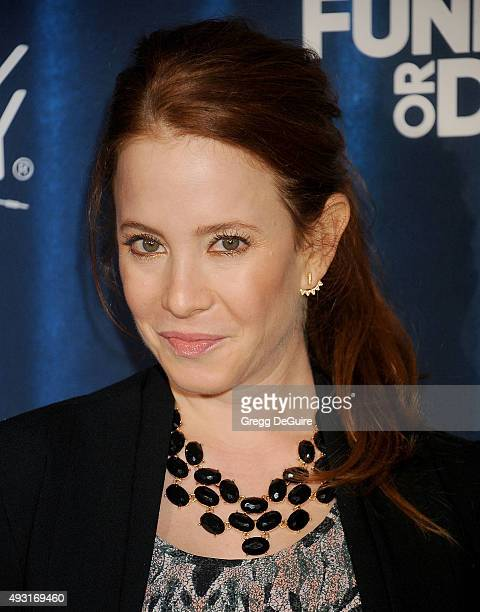 Actress Amy Davidson arrives at Hilarity For Charity's 4th Annual Variety Show at Hollywood Palladium on October 17 2015 in Los Angeles California