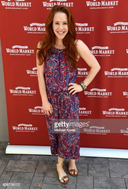 Actress Amy Davidson attends the launch of World Market's Fall Small Space Collection on August 5 2017 in Los Angeles California