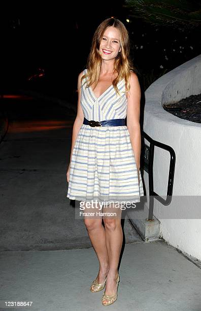Actress Amy Ferguson attends the Gen Art Screening Of Anchor Bay Films Tanner Hall by the poolside of the WHotel in on August 31 2011 in Westwood...