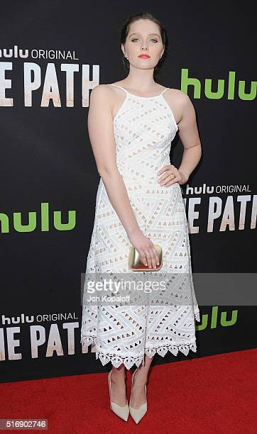Actress Amy Forsyth arrives at the Premiere Of Hulu's 'The Path' at ArcLight Hollywood on March 21 2016 in Hollywood California