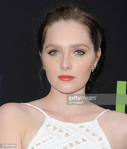 Actress Amy Forsyth arrives at the Premiere Of Hulu's The Path at ArcLight Hollywood on March 21 2016 in Hollywood California
