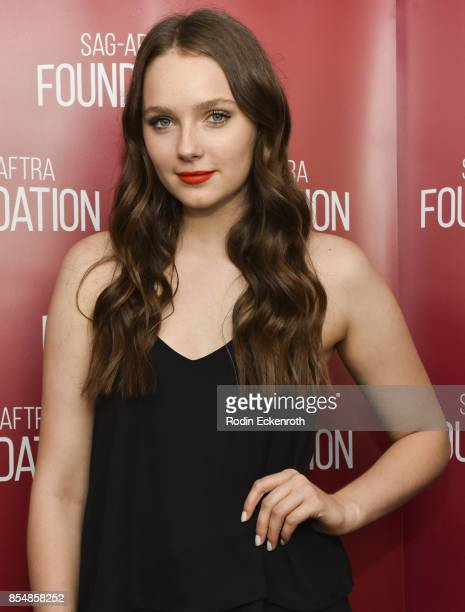 Actress Amy Forsyth at SAGAFTRA Foundation Conversations 'Channel Zero NoEnd House' at SAGAFTRA Foundation Screening Room on September 27 2017 in Los...