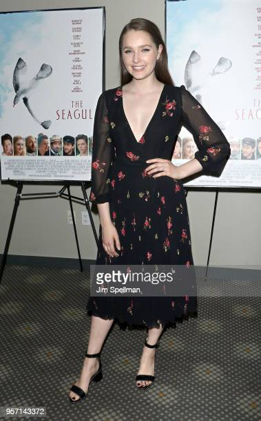 Actress Amy Forsyth attends the New York screening of 'The Seagull' at Elinor Bunin Munroe Film Center on May 10 2018 in New York City