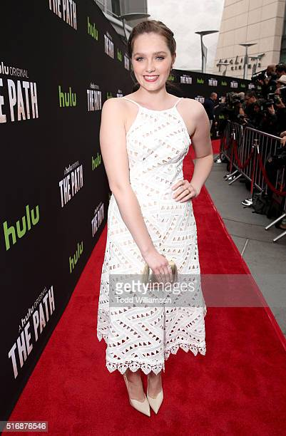 Actress Amy Forsyth attends The Path Premiere Party at ArcLight Hollywood on March 21 2016 in Hollywood California
