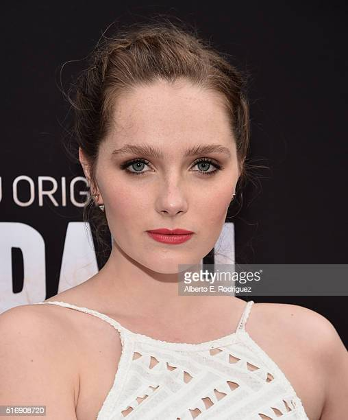 Actress Amy Forsyth attends the premiere of Hulu's 'The Path' at ArcLight Hollywood on March 21 2016 in Hollywood California