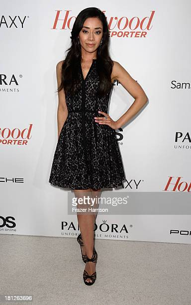 Actress Amy Garcia arrives at The Hollywood Reporter's Emmy Party at Soho House on September 19 2013 in West Hollywood California
