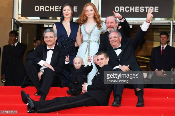 Actress Amy Gilliam and Lily Cole and director Terry Gilliam Nicola Percorini and Actors Verne Troyer and Andrew Garfield attend The Imaginarium Of...