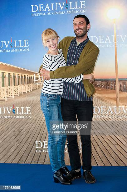 Actress Amy Grantham and director Matt Creed pose at a photocall for the film 'Lily' during the 39th Deauville Film Festival on September 4 2013 in...
