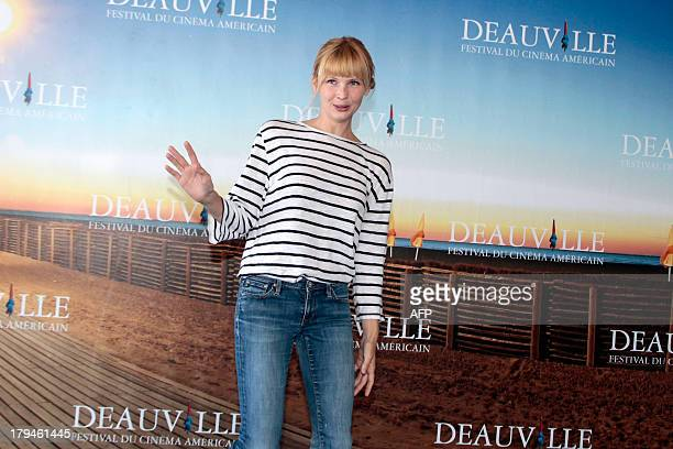 US actress Amy Grantham poses during a photocall to present Lily her latest movie on September 4 2013 as part of the Deauville US Film Festival in...