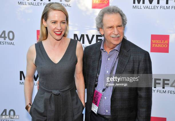 Actress Amy Hargreaves and MVFF Founder Director Mark Fishkin attend the 40th Annual Mill Valley Film Festival at The Outdoor Art Club on October 5...