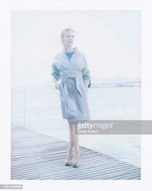 Actress Amy Hargreaves is photographed for Self Assignment on May 2013 in Cannes France