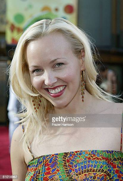 """Actress Amy Hathaway arrives at the World Premiere of """"LA Twister"""" on June 30, 2004 at the Grauman's Chinese Theatre, in Hollywood, California."""