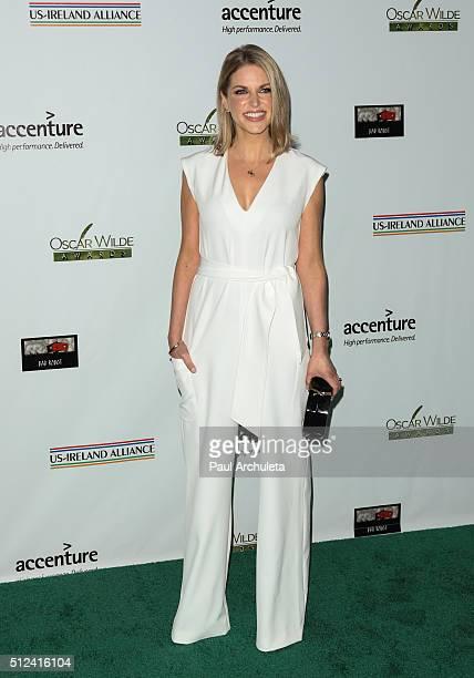 Actress Amy Huberman attends the 2016 Oscar Wilde Awards at Bad Robot Studios on February 25 2016 in Santa Monica California