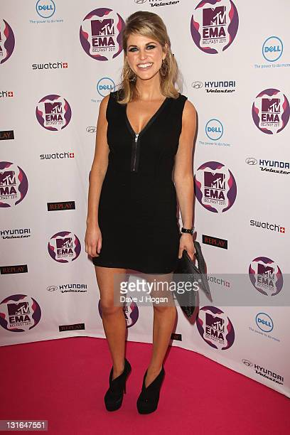 Actress Amy Huberman attends the MTV Europe Music Awards 2011 at the Odyssey Arena on November 6 2011 in Belfast Northern Ireland