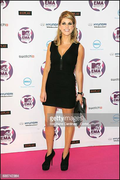 Actress Amy Huberman attends the MTV Europe Music Awards 2011 at the Odyssey Arena in Belfast