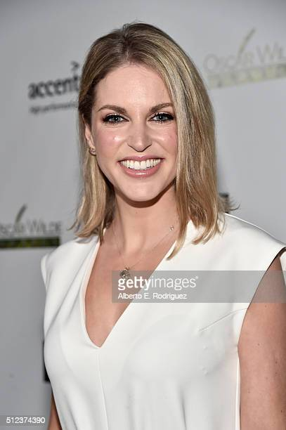 Actress Amy Huberman attends the Oscar Wilde Awards at Bad Robot on February 25 2016 in Santa Monica California
