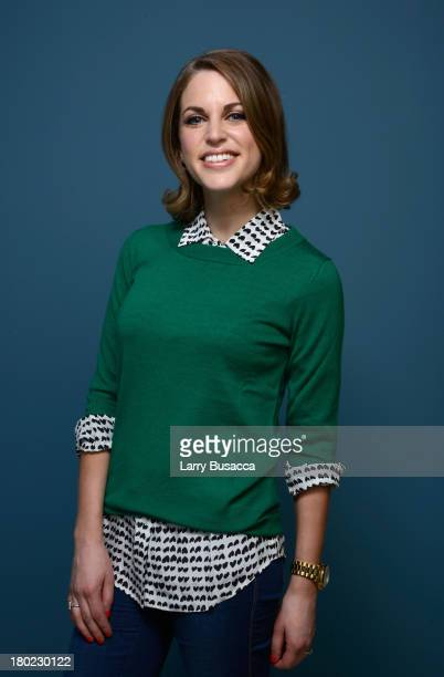 Actress Amy Huberman of 'The Stag' poses at the Guess Portrait Studio during 2013 Toronto International Film Festival on September 10 2013 in Toronto...