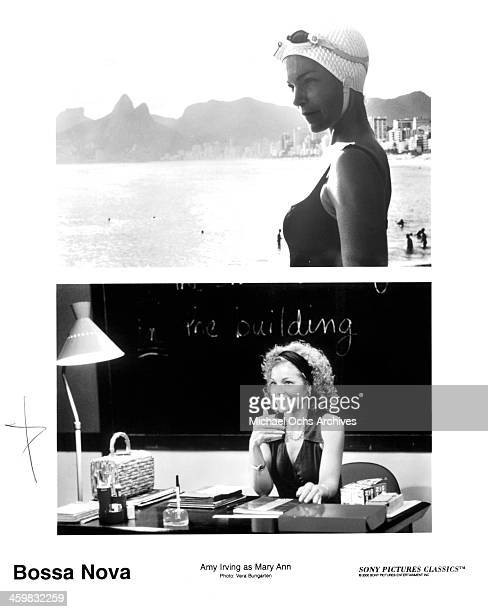 Actress Amy Irving actress Amy Irving on set of the movie 'Bossa Nova' circa 2000