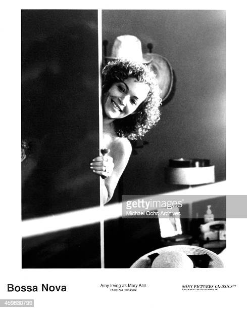 Actress Amy Irving on set of the movie 'Bossa Nova' circa 2000