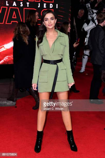 Actress Amy Jackson attends the European Premiere of 'Star Wars The Last Jedi' at Royal Albert Hall on December 12 2017 in London England