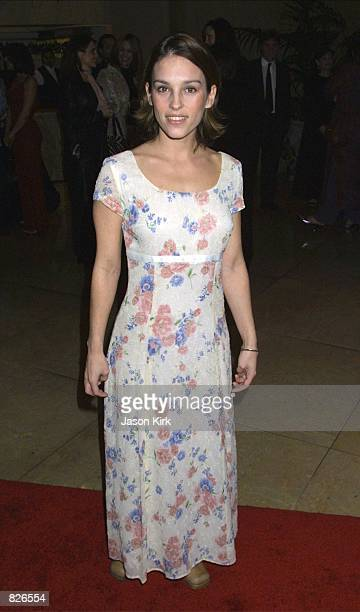 Actress Amy Jo Johnson arrives at the 21st Annual St Jude Hollywood Gala March 1 2001 in Beverly Hills CA