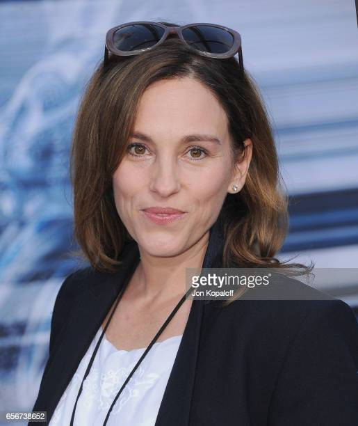 Actress Amy Jo Johnson arrives at the Los Angeles Premiere Power Rangers at the Westwood Village Theater on March 22 2017 in Westwood California