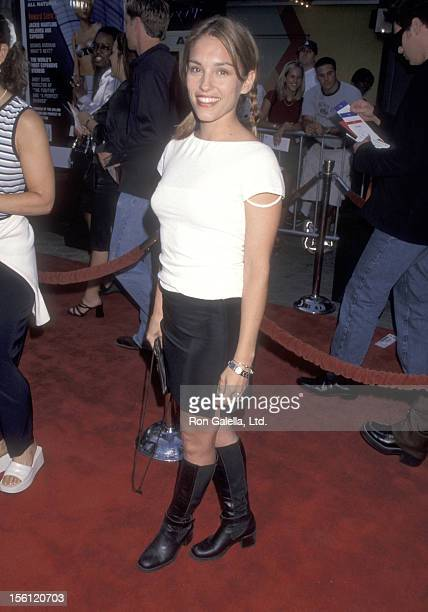 Actress Amy Jo Johnson attends the 'American Pie' Universal City Premiere on July 7 1999 at Cineplex Odeon Universal City Cinemas in Universal City...