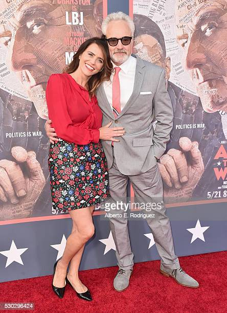 Actress Amy Landecker and actor Bradley Whitford attend the All The Way Los Angeles Premiere at Paramount Studios on May 10 2016 in Hollywood City