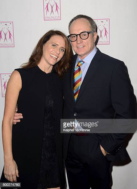 Actress Amy Landecker and actor Bradley Whitford attends A New Way of Life ReEntry Project's 17th Annual Awards Gala at Omni Los Angeles Hotel on...