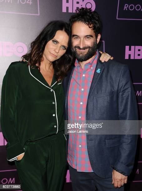 Actress Amy Landecker and actor Jay Duplass attend the premiere of 'Room 104' at Hollywood Forever on July 27 2017 in Hollywood California