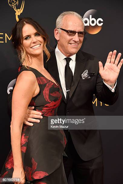 Actress Amy Landecker and Jackson Lynch attend the 68th Annual Primetime Emmy Awards at Microsoft Theater on September 18 2016 in Los Angeles...