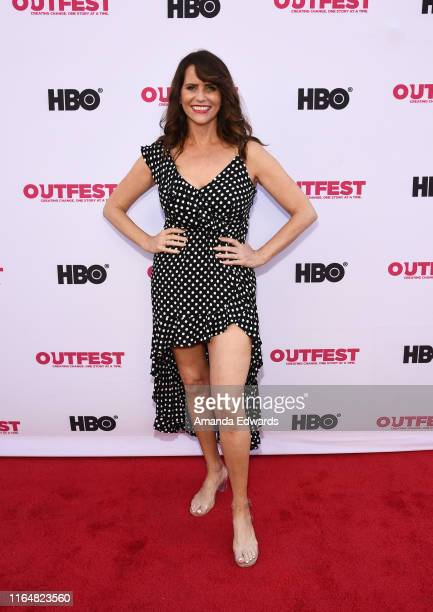 Actress Amy Landecker arrives at the 2019 Outfest Los Angeles LGBTQ Film Festival Closing Night Gala Premiere of Before You Know It at The Theatre at...