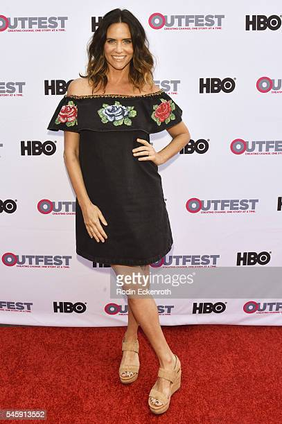 """Actress Amy Landecker arrives at the Amazon Original Series """"Transparent"""" Panel at Outfest Los Angeles at DGA Theater on July 10, 2016 in Los..."""