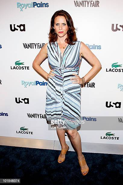 Actress Amy Landecker arrives at the USA Network and Vanity Fair 'Royal Pains' Season Two kick off event at Lacoste Fifth Avenue Boutique on June 1...