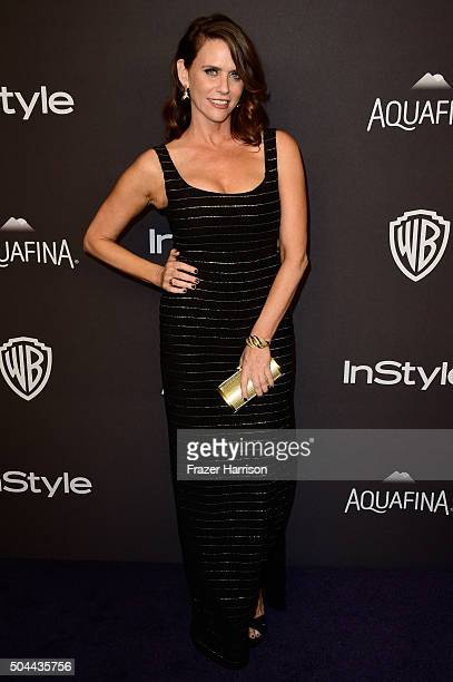 Actress Amy Landecker attends InStyle and Warner Bros 73rd Annual Golden Globe Awards PostParty at The Beverly Hilton Hotel on January 10 2016 in...