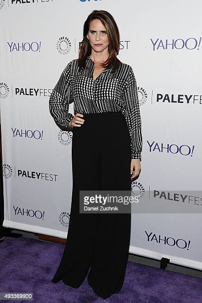 """Actress Amy Landecker attends PaleyFest New York 2015 """"Transparent"""" at The Paley Center for Media on October 19, 2015 in New York City."""