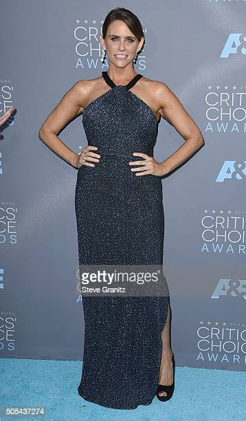 Actress Amy Landecker attends the 21st Annual Critics' Choice Awards at Barker Hangar on January 17 2016 in Santa Monica California