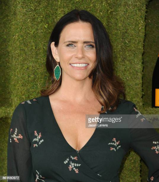Actress Amy Landecker attends the 8th annual Veuve Clicquot Polo Classic at Will Rogers State Historic Park on October 14 2017 in Pacific Palisades...