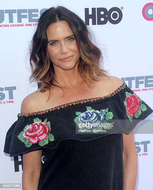 """Actress Amy Landecker attends the Amazon Original Series """"Transparent"""" Panel during Outfest Los Angeles at DGA Theater on July 10, 2016 in Los..."""