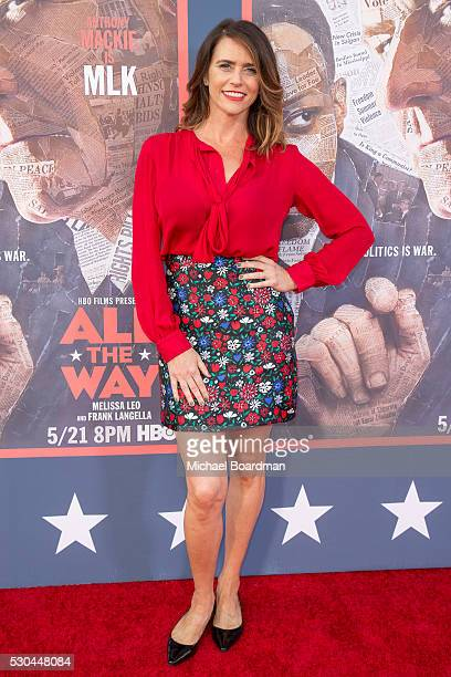 Actress Amy Landecker attends the premiere of HBO's 'All The Way' at Paramount Studios on May 10 2016 in Hollywood California