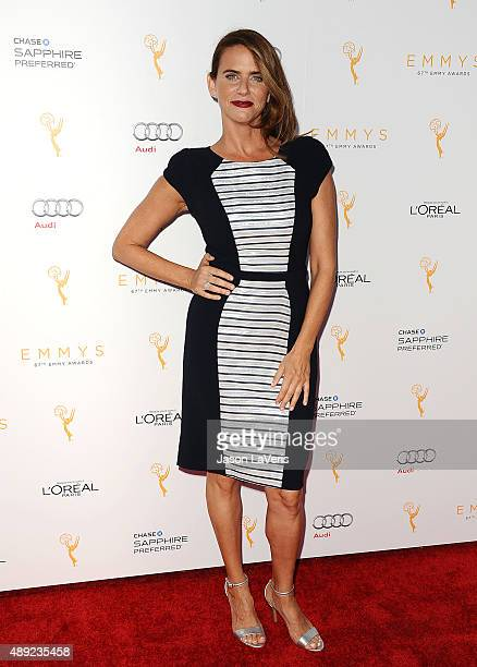 Actress Amy Landecker attends the Television Academy's celebration for the 67th Emmy Award nominees for outstanding performances at Pacific Design...