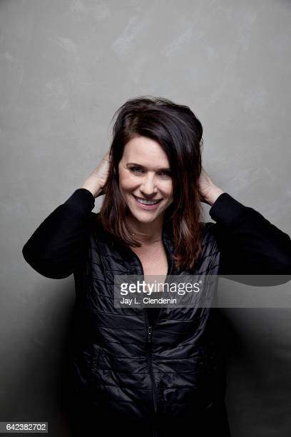 Actress Amy Landecker from the film Beatriz at Dinner is photographed at the 2017 Sundance Film Festival for Los Angeles Times on January 23 2017 in...