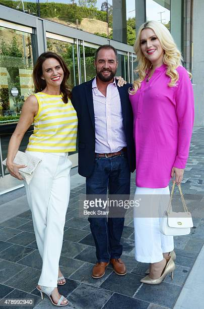 Actress Amy Landecker with guest and 'Transparent' actress attend 2015 Beth Chayim Chadashim Annual Awards Brunch honoring Jeffrey Tambor for his...