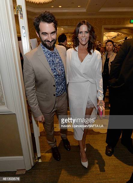 Actress Amy Landlecker and director Jay Duplass attends the BAFTA Los Angeles Tea Party at The Four Seasons Hotel Los Angeles At Beverly Hills on...