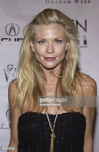 Actress Amy Locane arrives at the GenArt Fall 2005 LA Fashion Week Kick Off Party on March 14 2005 at the MOCA Geffen Contemporary Museum in Los...