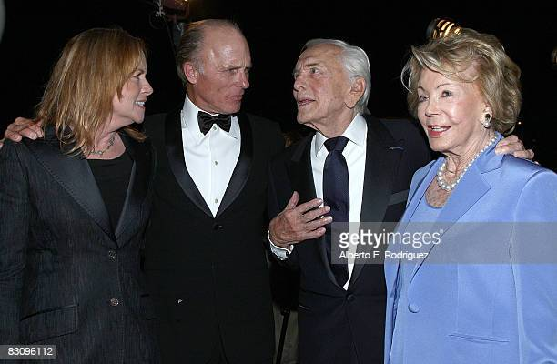 Actress Amy Madigan actor Ed Harris actor Kirk Douglas and Anne Douglas arrive at the SBIFF's 3rd Annual Kirk Douglas Award For Excellence in Film...